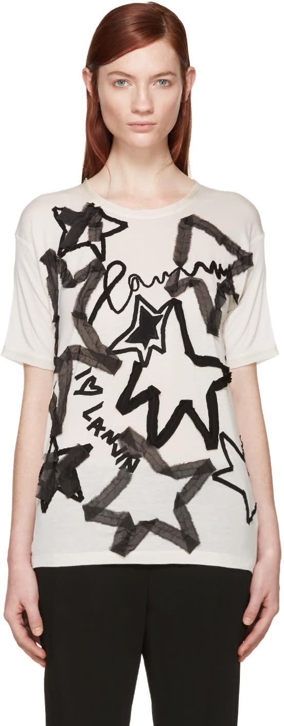 Lanvin Beige Star Applique T-shirt