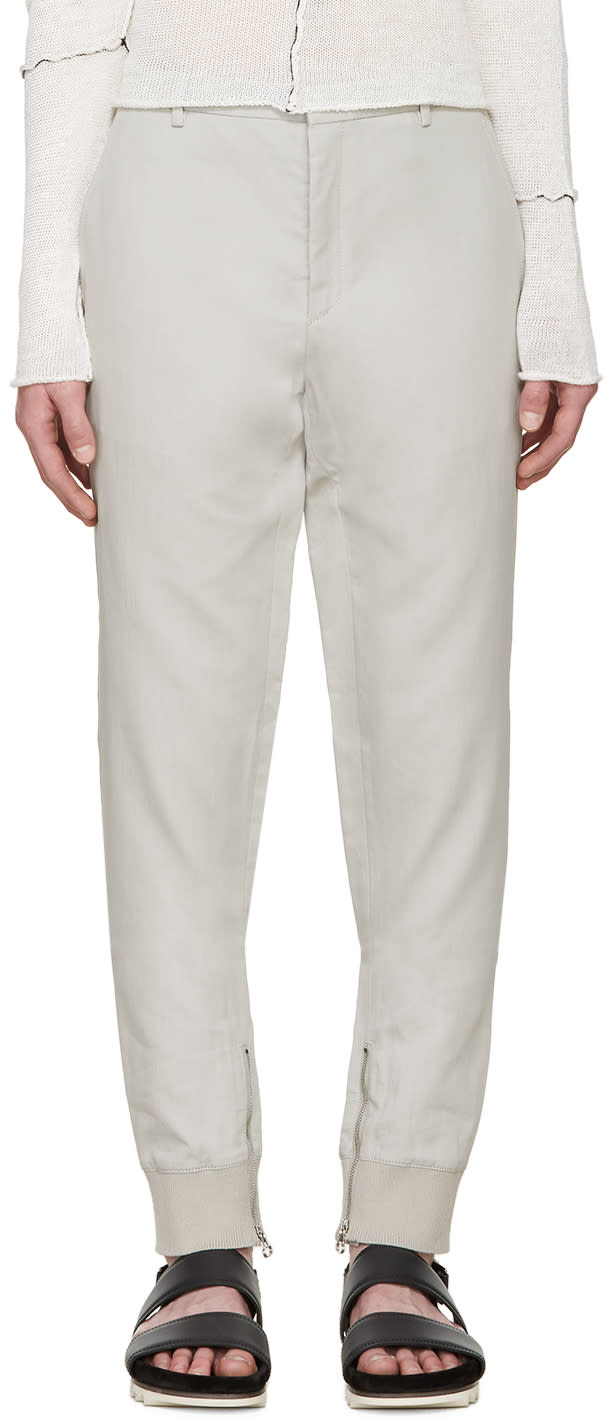 Lanvin Grey Biker Trousers