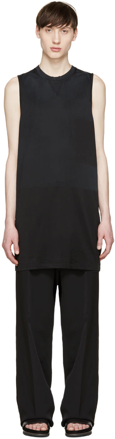 Lanvin Black Faded Sleeveless T-shirt