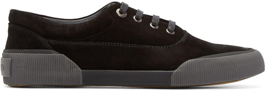Lanvin Black Suede Low-top Sneakers