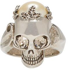 Alexander Mcqueen Gunmetal Skull Ring