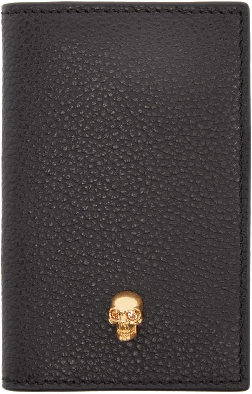 Alexander Mcqueen Black Leather Pocket Organizer