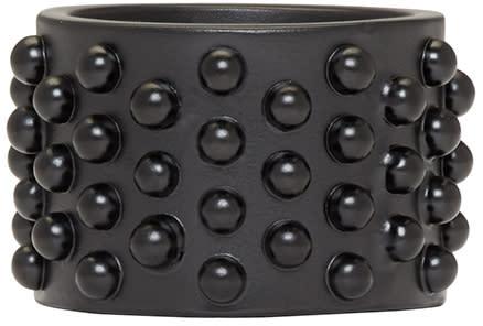 Alexander Mcqueen Black Liliputs Ring