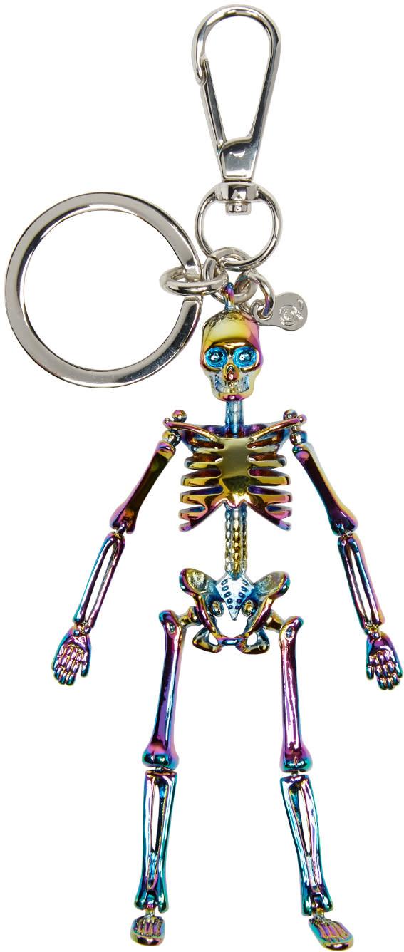 Alexander Mcqueen Multicolor Skeleton Keychain