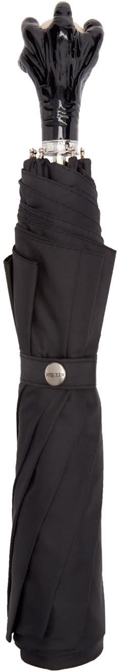 Alexander Mcqueen Black Claw Handle Umbrella