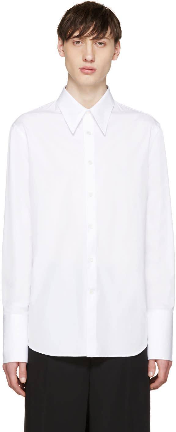 Alexander Mcqueen White Poplin Long Cuffs Shirt