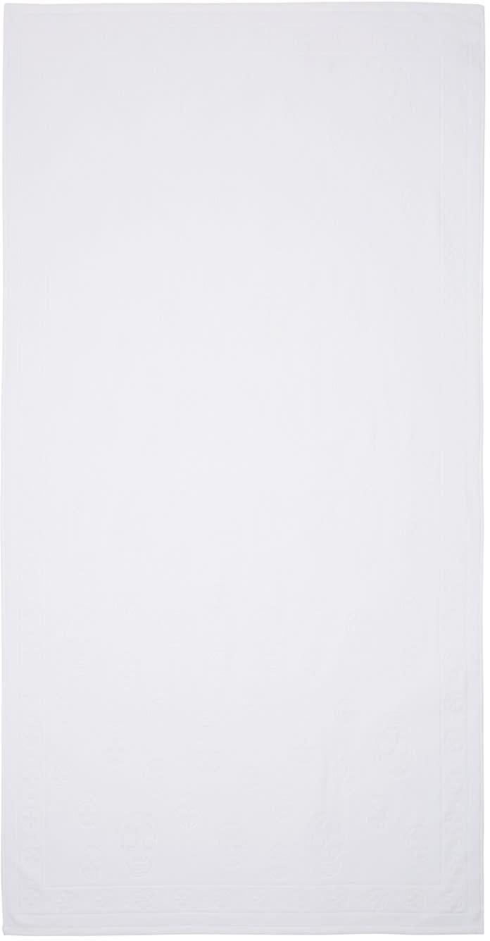 Alexander Mcqueen White Skulls Towel