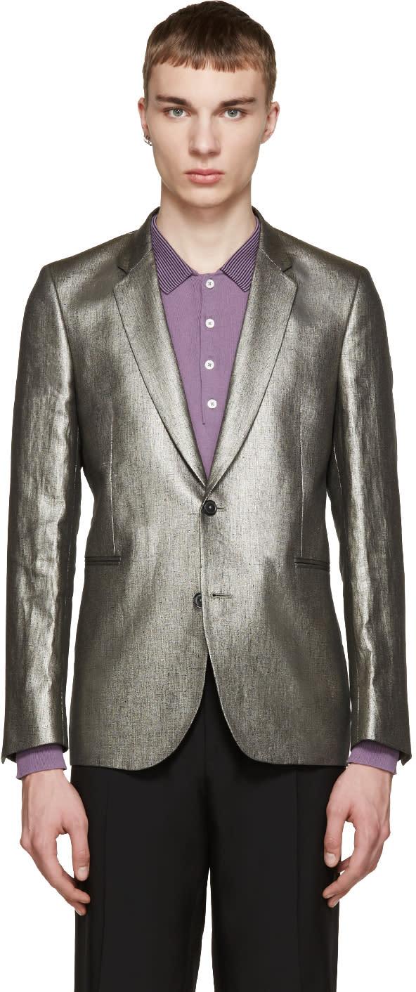 Paul Smith Silver Linen Blazer
