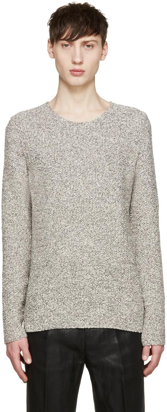 Paul Smith Grey Melange Crewneck Sweater