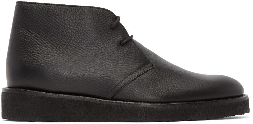 Opening Ceremony Black Leather M1 Desert Boots