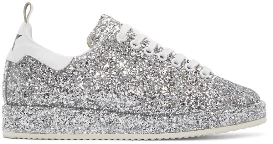 Golden Goose Silver Glitter Starter Sneakers