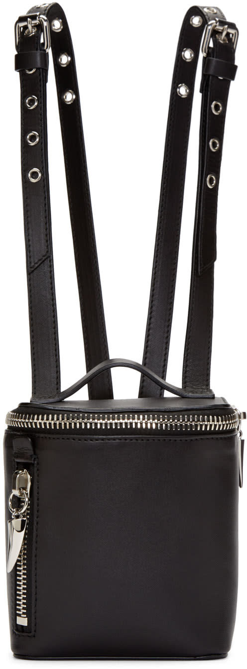 Giuseppe Zanotti Black Leather Mini Clopper Backpack