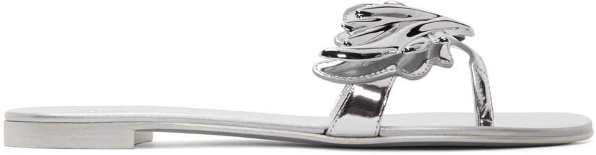 Giuseppe Zanotti Silver Nuvorock Wing Sandal