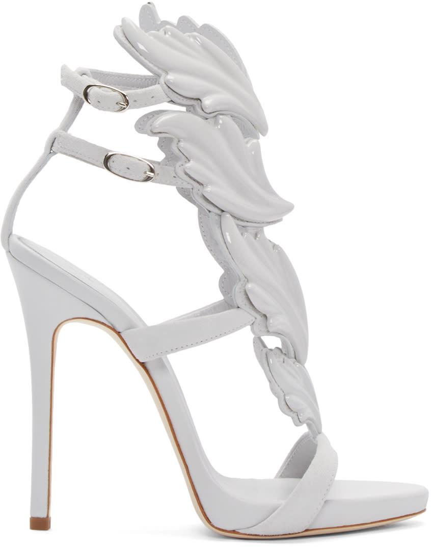Giuseppe Zanotti Grey Suede Cruel Sandals