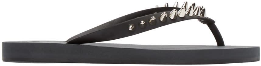 Giuseppe Zanotti Black Studded Sandals