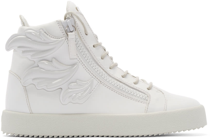 Giuseppe Zanotti Grey Wings London High-top Sneakers