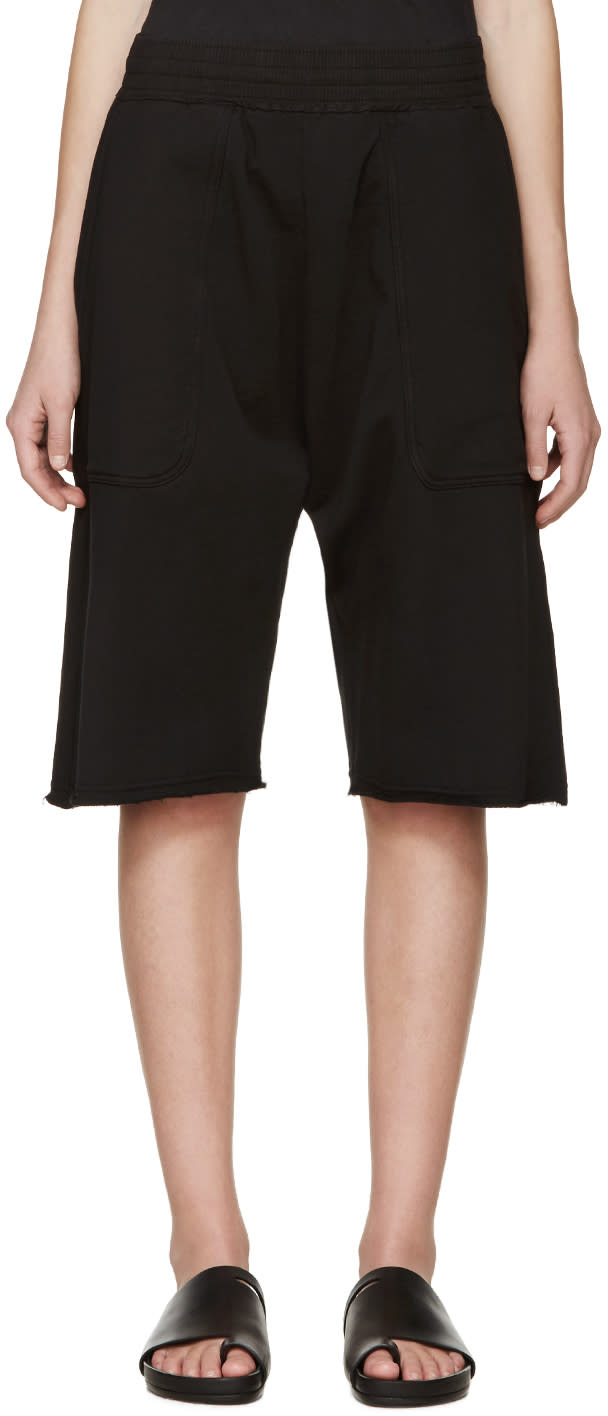 Damir Doma Black Plumis Lounge Shorts