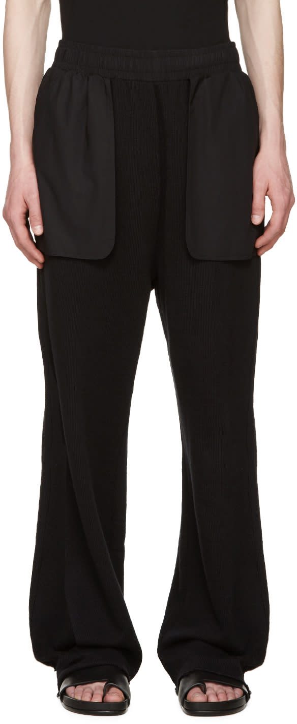 Damir Doma Black Wide Pulya Lounge Pants