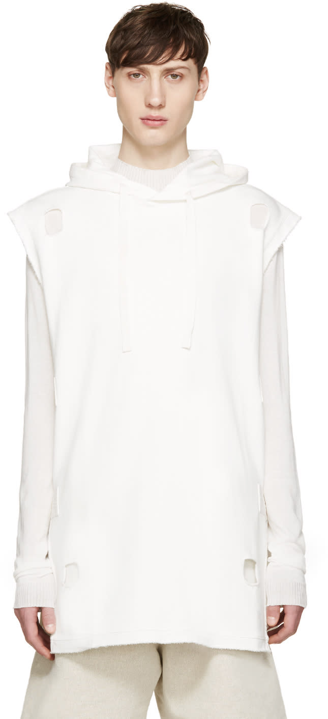 Damir Doma White Cut-out Satia Hoodie