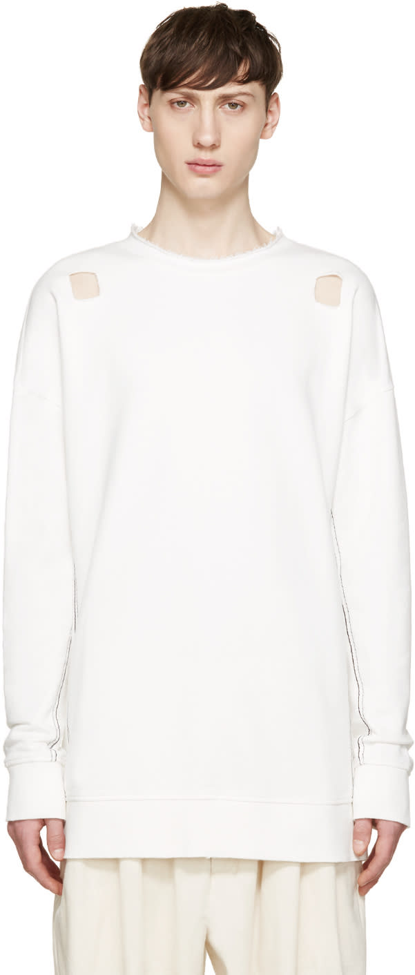 Damir Doma White Cut-out Syliam Pullover