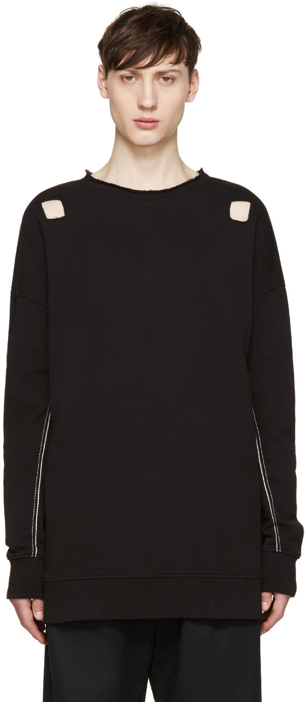 Image of Damir Doma Black Cut-out Syliam Pullover