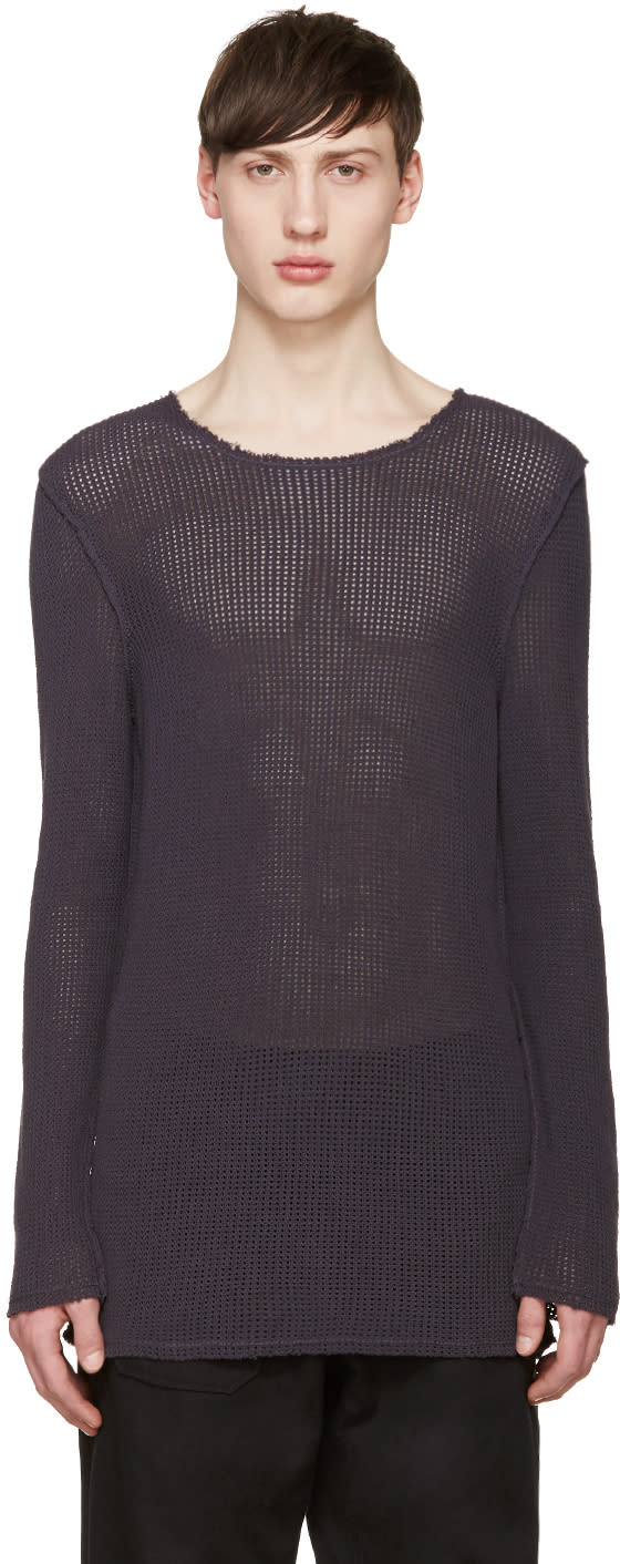 Damir Doma Purple Open Knit Kes Sweater