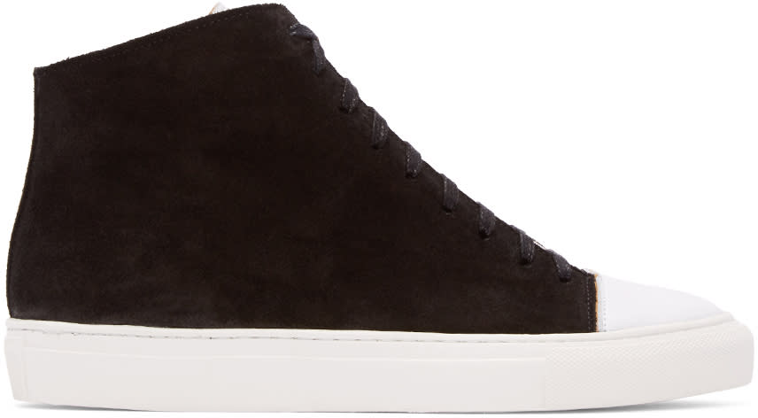 Damir Doma Black Suede Framio High-top Sneakers