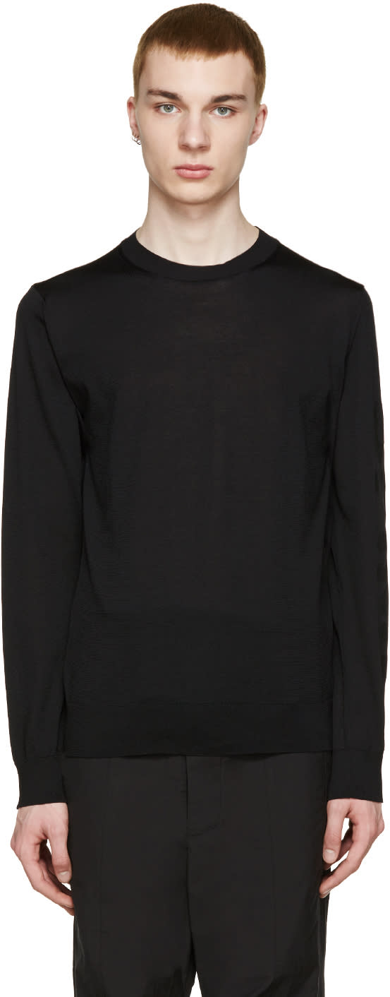 Comme Des Garcons Shirt Black Printed Sleeve T-shirt
