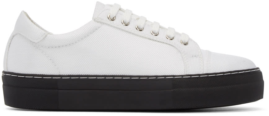 Comme Des Garçons Shirt White Nylon Sneakers
