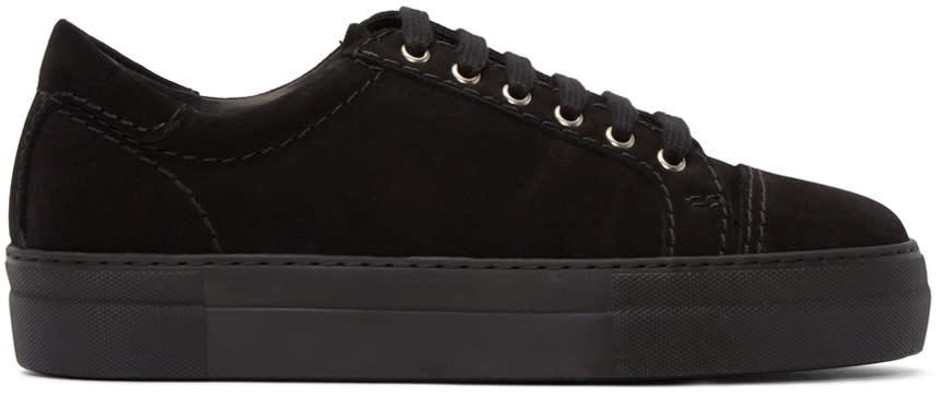 Comme Des Garçons Shirt Black Suede Sneakers