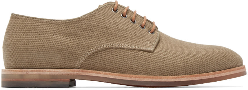 H By Hudson Beige Hadstone Canvas Oxfords