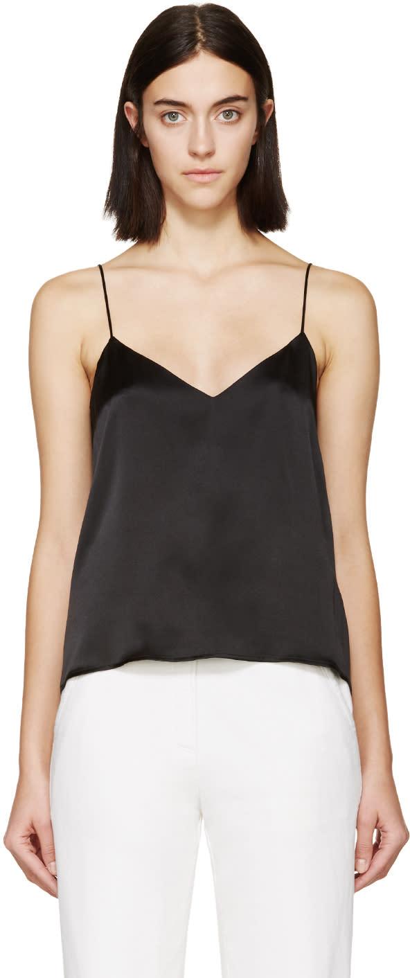 Raquel Allegra Black Silk Vest Camisole
