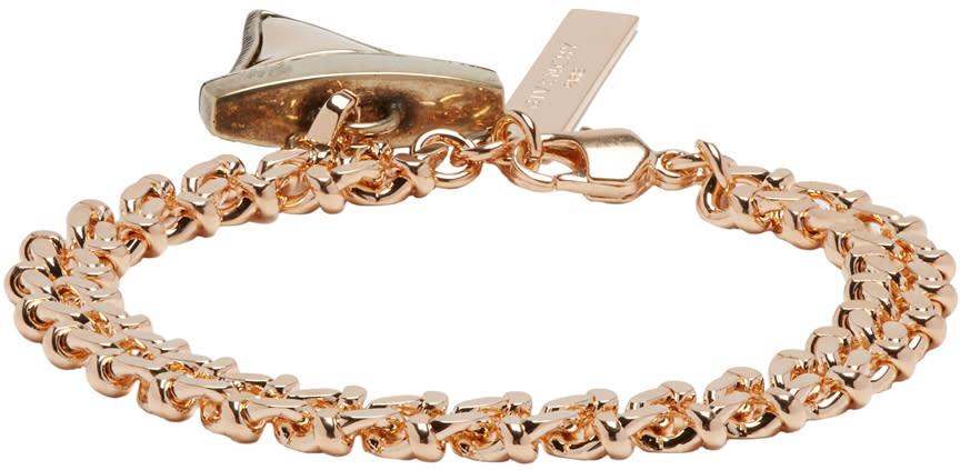 Givenchy Rose Gold Shark Tooth Bracelet