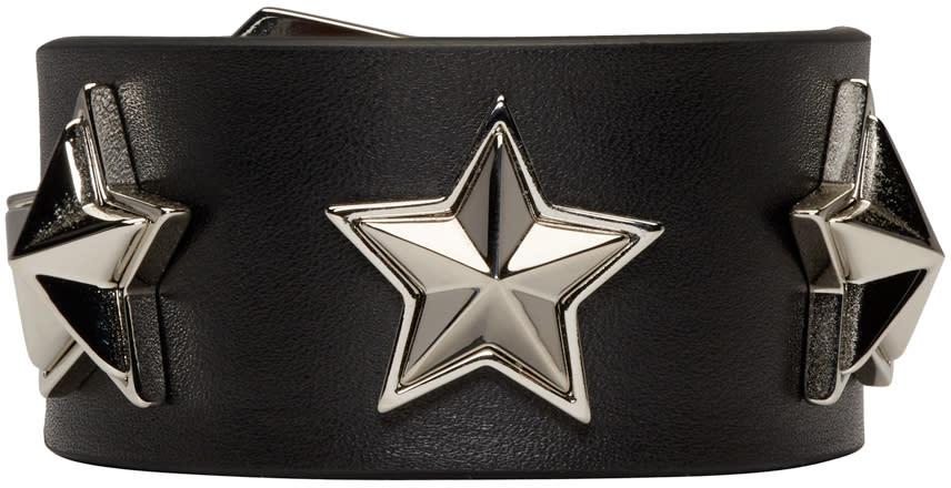 Givenchy Black Studded Leather Bracelet