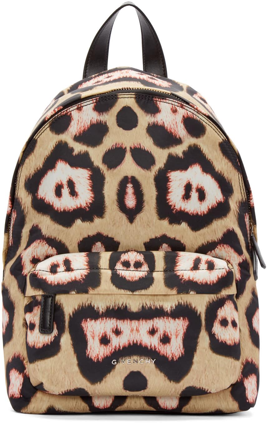 Givenchy Beige and Pink Mini Jaguar Backpack