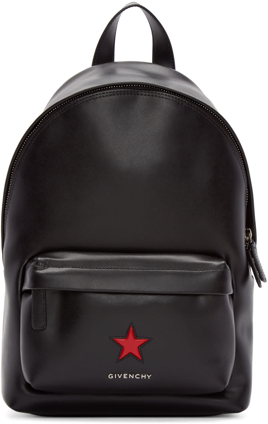 Givenchy Black Leather Mini Star Backpack
