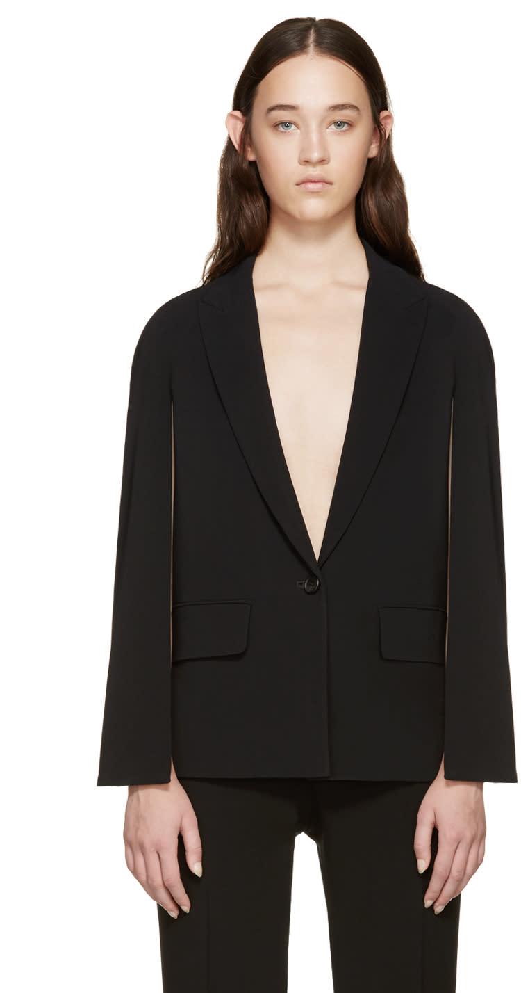 Givenchy Black Cape-style Blazer