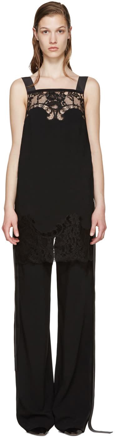 Givenchy Black Lace Camisole Jumpsuit