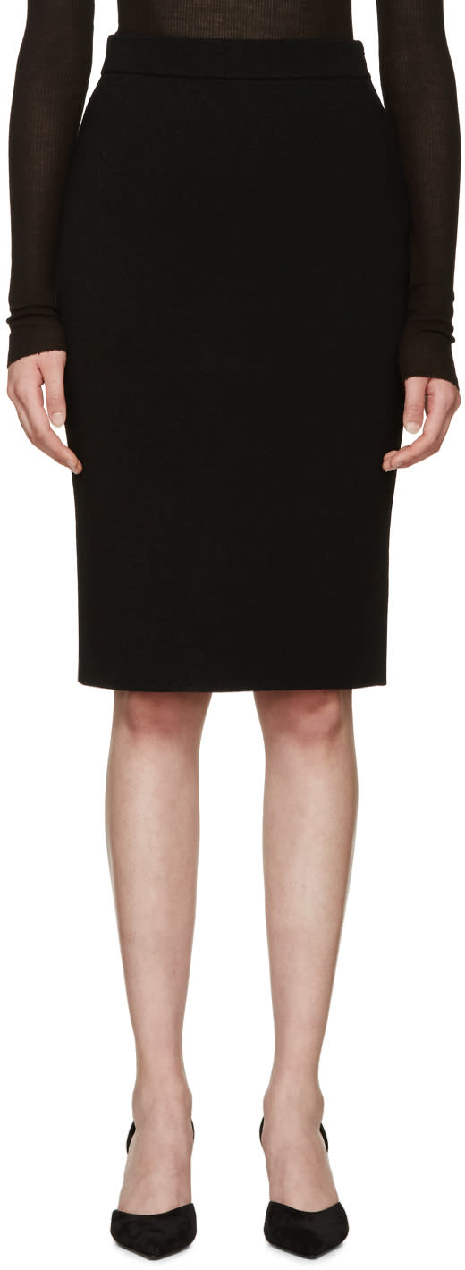 Givenchy Black Buttoned Pencil Skirt