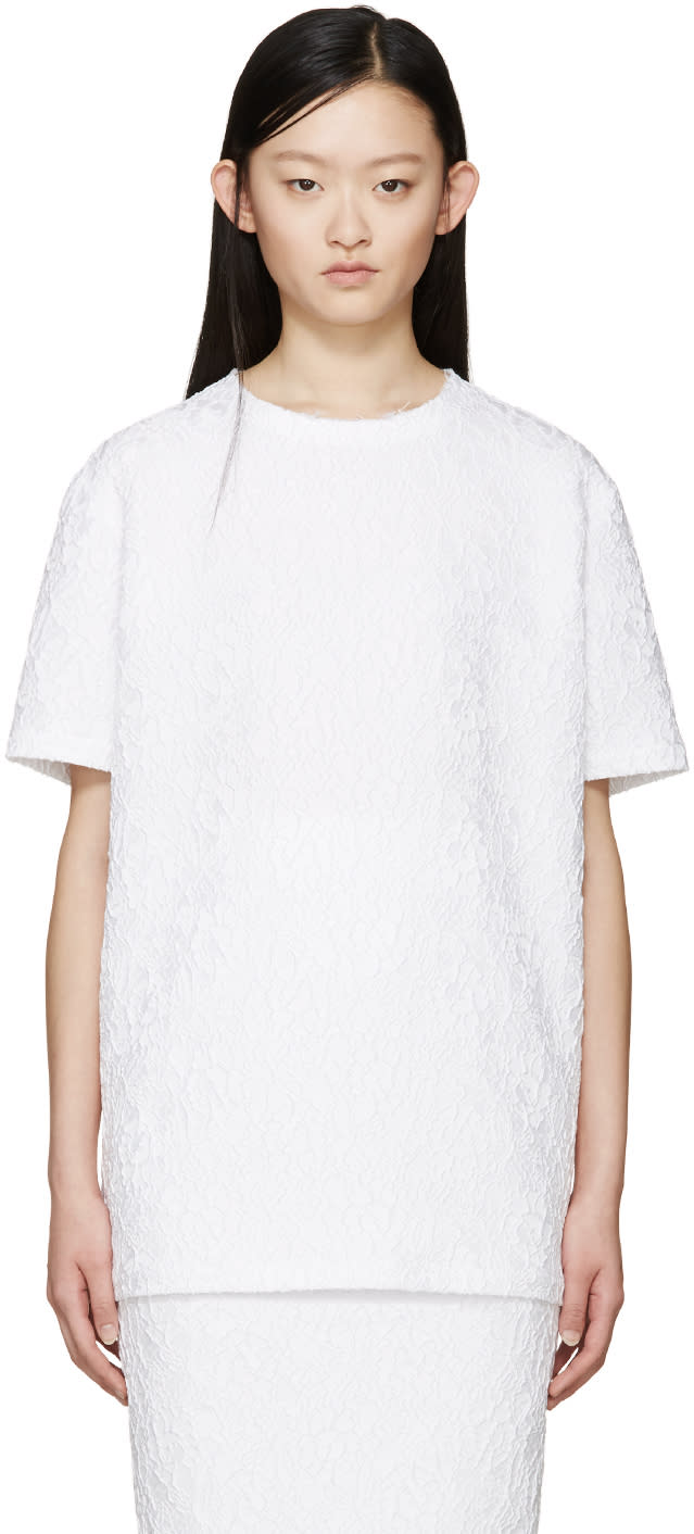 Givenchy White Floral Jacquard Blouse