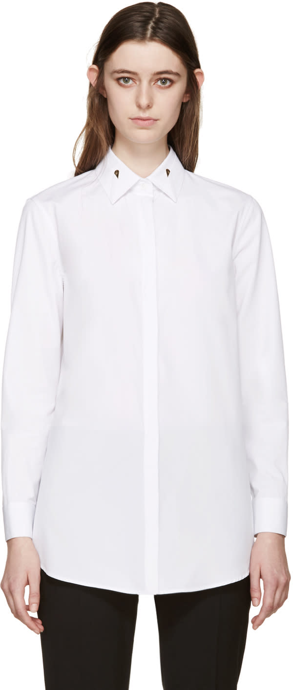 Givenchy White Poplin Balena Shirt