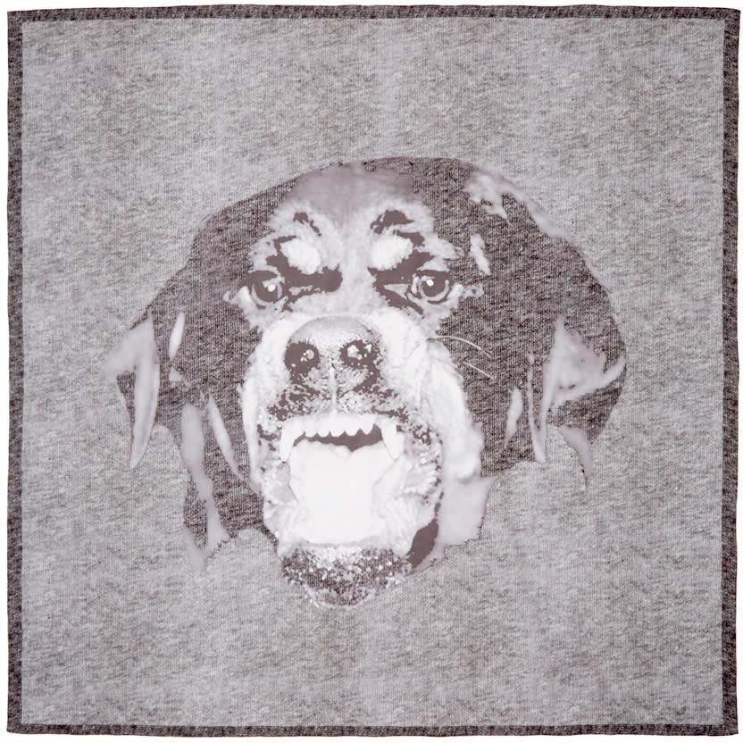 Givenchy Grey Rottweiler Scarf