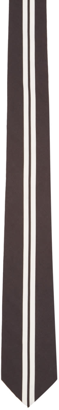 Givenchy Black and White Striped Tie