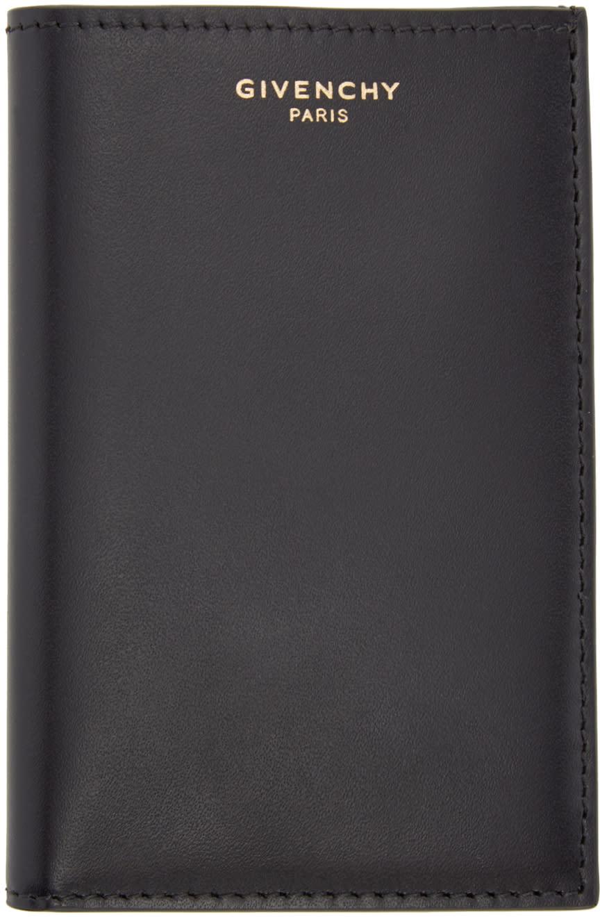 Givenchy Black Leather Logo Card Holder