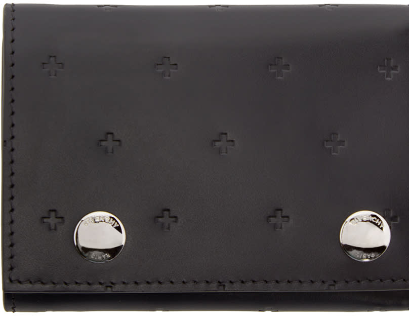 Givenchy Black Leather Cross Wallet