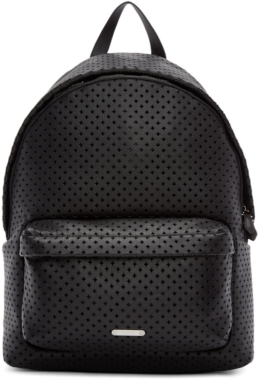 Givenchy ブラック パーフォレーテッド レザー バックパック