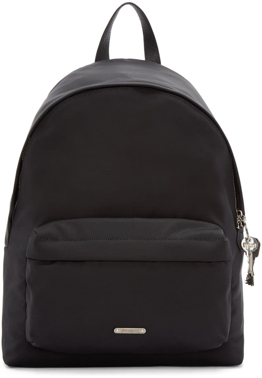 Givenchy Black Canvas Keys Backpack