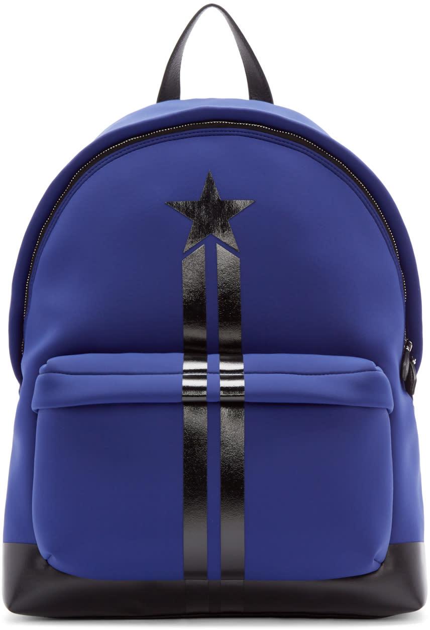 Givenchy ブルー ネオプレン バックパック