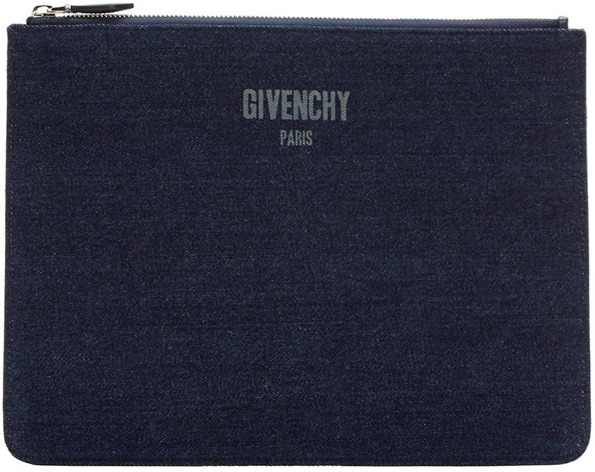 Givenchy Indigo Denim Pouch