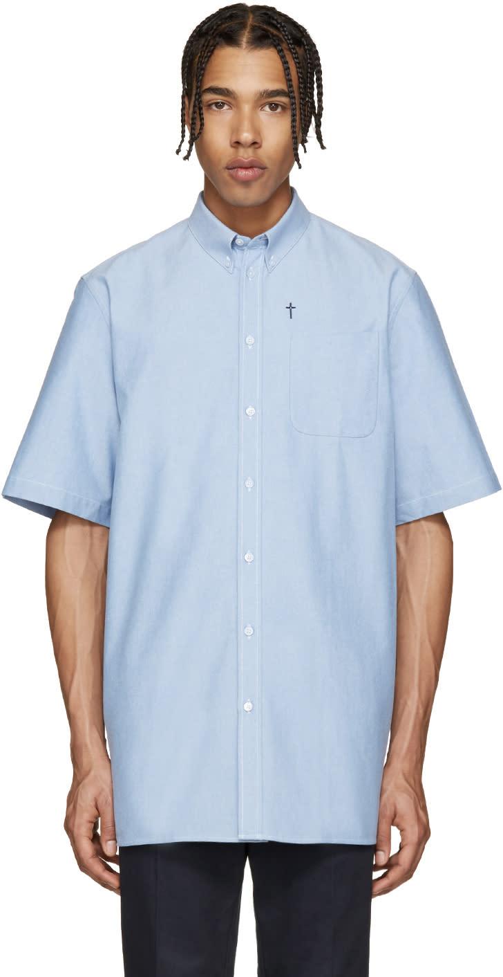 Givenchy Blue Chambray Cross Shirt